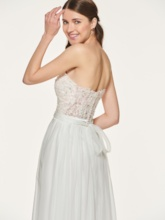 Sequins Appliques Long Bridesmaid Dress