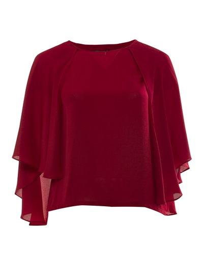 Flowy Plus Size Batwing Sleeve Plus Size Women's Shirt