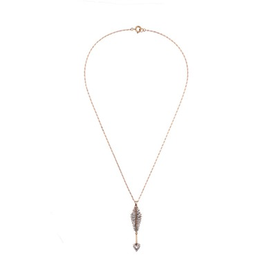 Love Arrow Diamante Sweater Chain Necklace