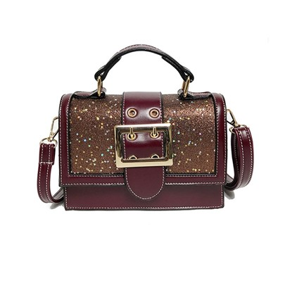 Sequins Belt-Decorated Women Satchel