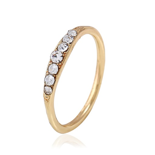 Rhinestone Round Hot Sale Simple Ring