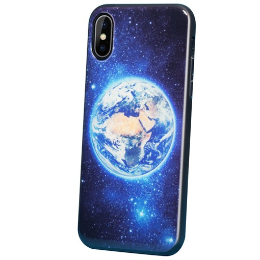 iPhone X PC+TPU Case with Planet Pattern