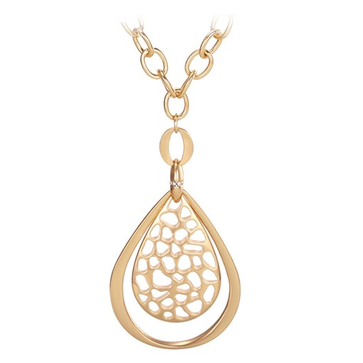 Pear Hollow Out Alloy Hyperbole Necklace