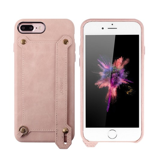 iPhone X/8/8plus Case,Artificial Leather Shell with Stand for Apple