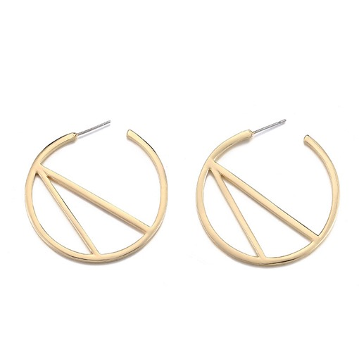 Overgild Silver Plated Alloy Geometric Earrings