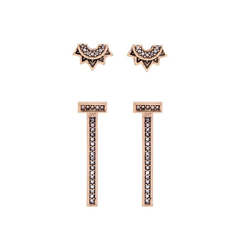 Diamante Overgild Alloy Retro Earrings