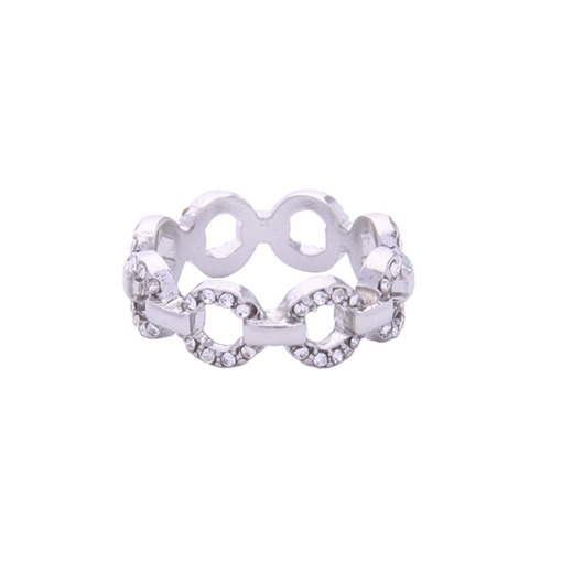 Diamante Hollow Out Loop Original Ring