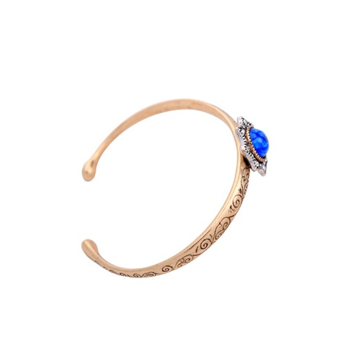 Alloy Blue Synthetic Stones Diamante Bracelet