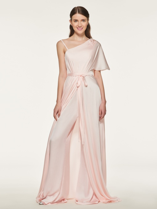 Irregular Neckline Appliques Bridesmaid Jumpsuit