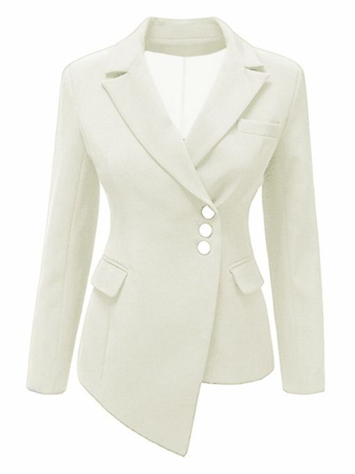 Asymmetric Single-Breasted Slim Fit Women's Blazer