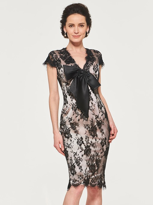 Cap Sleeve Sheath Lace Mother of the Bride Dress