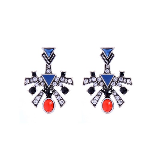 Diamante Retro Synthetic Stones Earrings