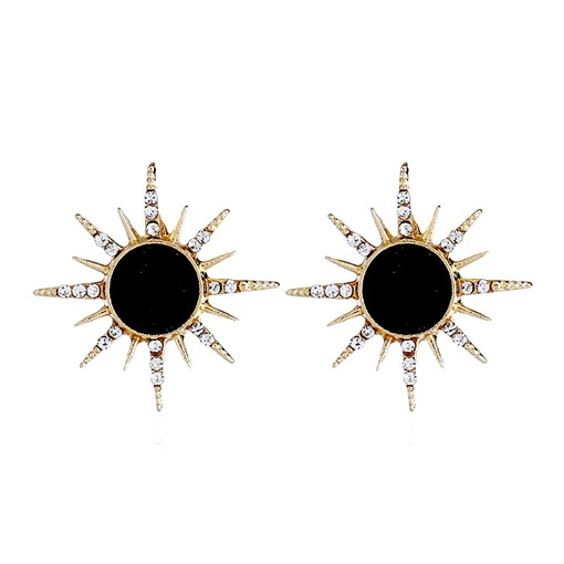 Sunflower Diamante Metal Simple Earrings