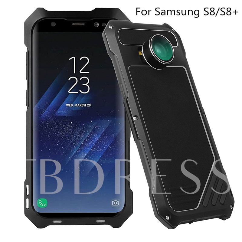 Samsung Galaxy S8/S8 Plus Case,Ultra Thin Metal Shell with Lens