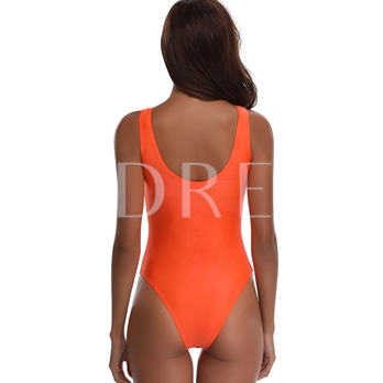 Lace-Up Knot Hollow-Up Women's Monokini