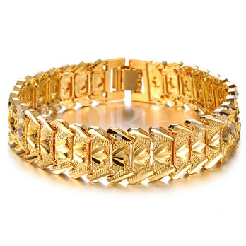 18K Overgild Copper Wide Bracelet