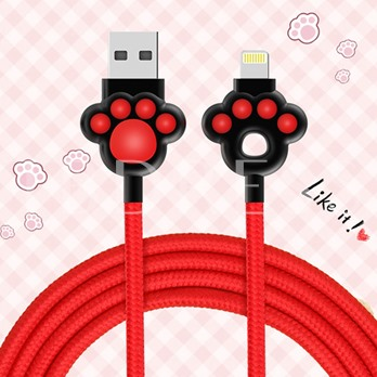 Cute Apple Lightning & Micro USB Charge Cable for iPhone X Android Phones