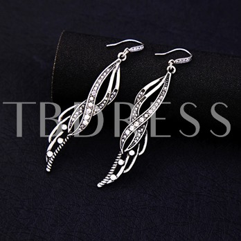 Flame Hollow Out Diamante Earrings