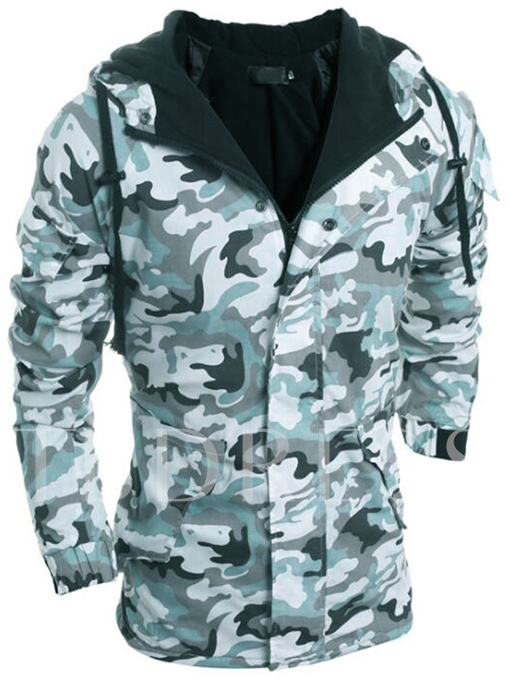 Hooded Camouflage Thicken Warm Slim Fit Men's Winter Coat