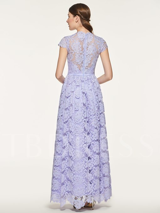 Ankle-Length Lace Bridesmaid Dress with Sleeve