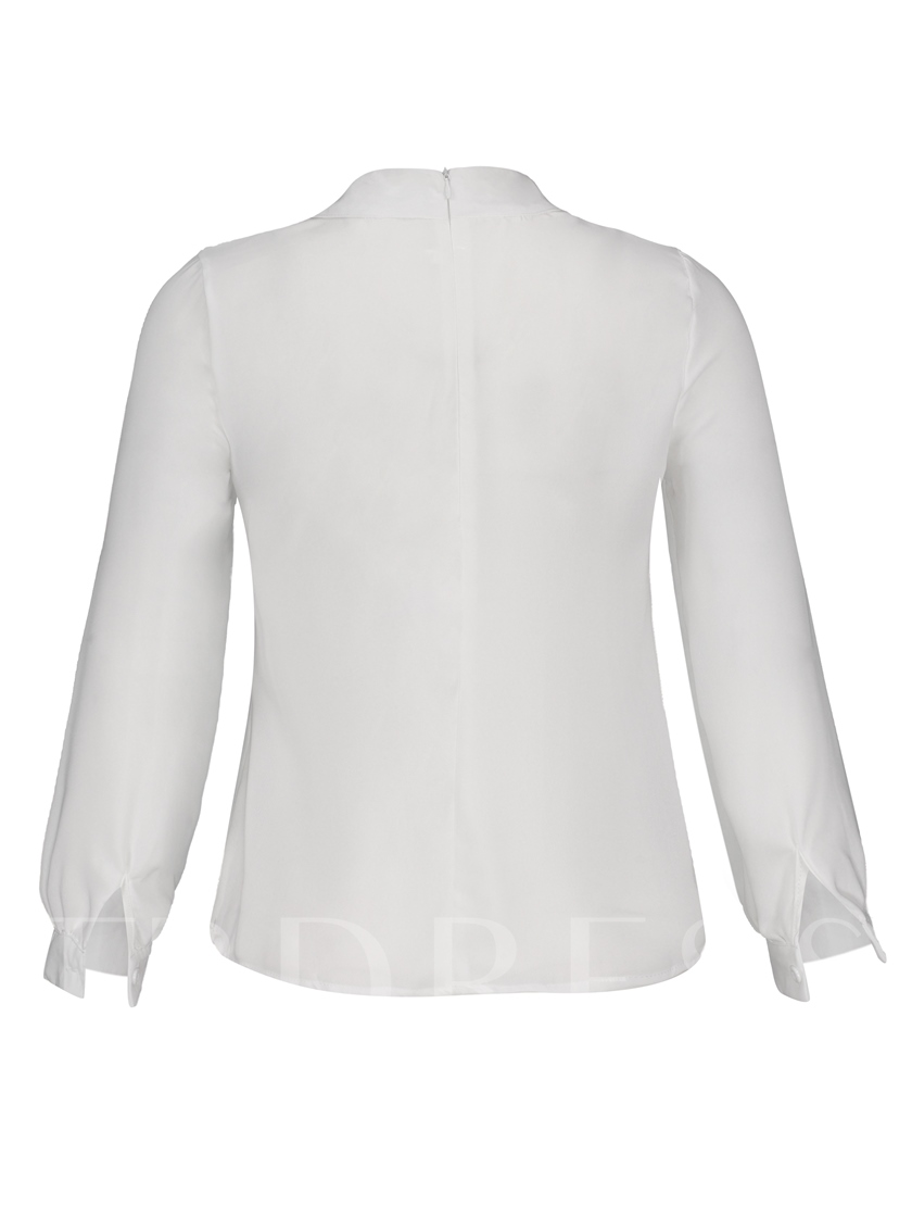 Mandarin Collar with Beads Loose Women's Blouse