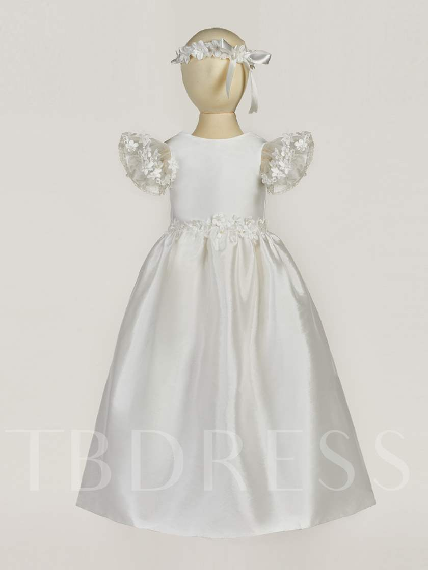Baby Girls Baptism Christening Gown with Headpiece