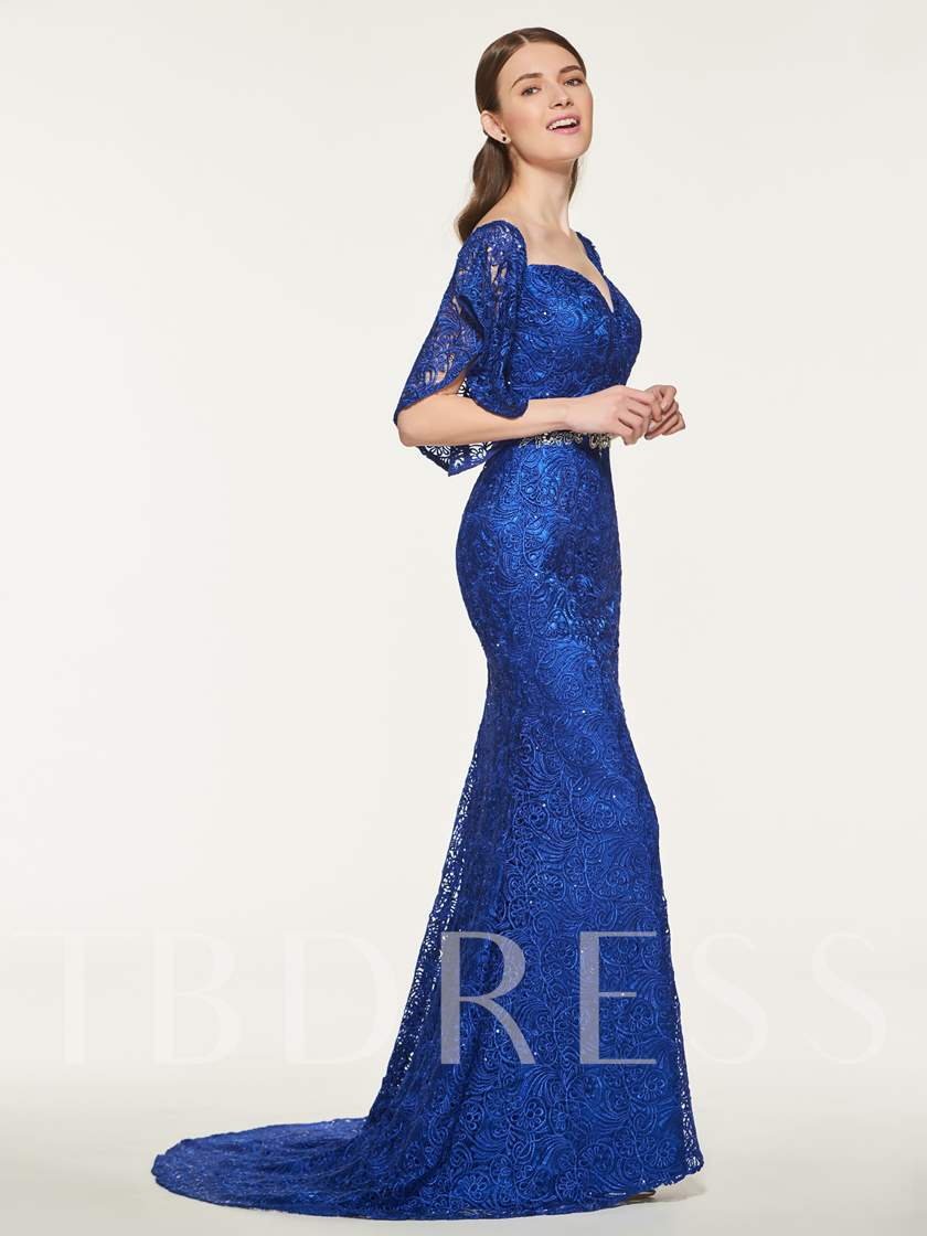 Sweetheart Beading Lace Mermaid Bridesmaid Dress