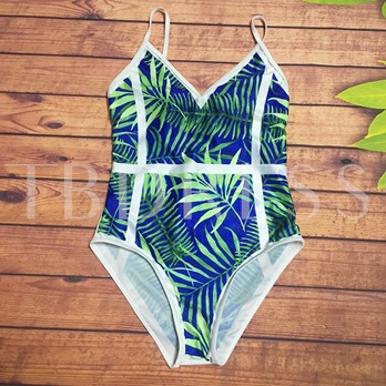 Floral Print Gallus Women's One-Piece Swimsuit