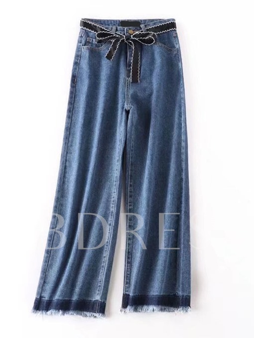 Loose Relaxed Straight Wide Leg Denim Pants Women's Jeans Trousers