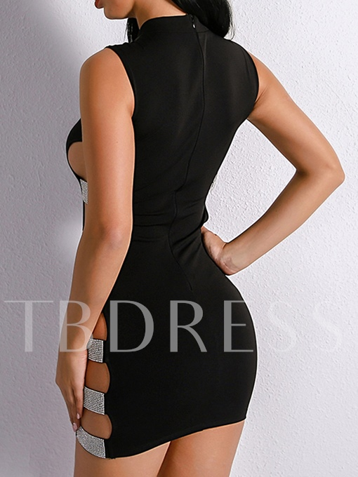 Back Zipper Cut Out Women's Party Dress