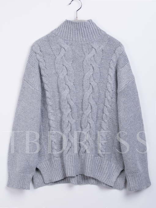 Mid-Length Turtleneck Pullover Loose Women's Sweater