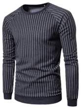 Pullover Stripe Round Neck Halloween Men's Hoodies