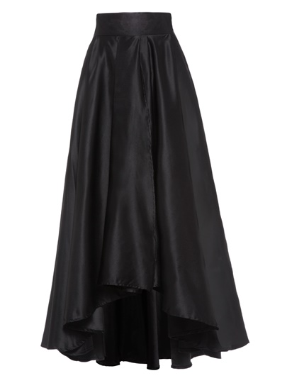 High Waist Solid Color Pleated Women's Skirt