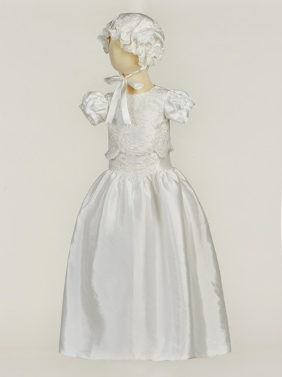 Romper Christening Gown for Girls Baptism Bonnet