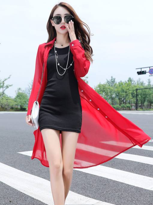 Single-Breasted Women's Long Cloak For Vacation Or Outdoor