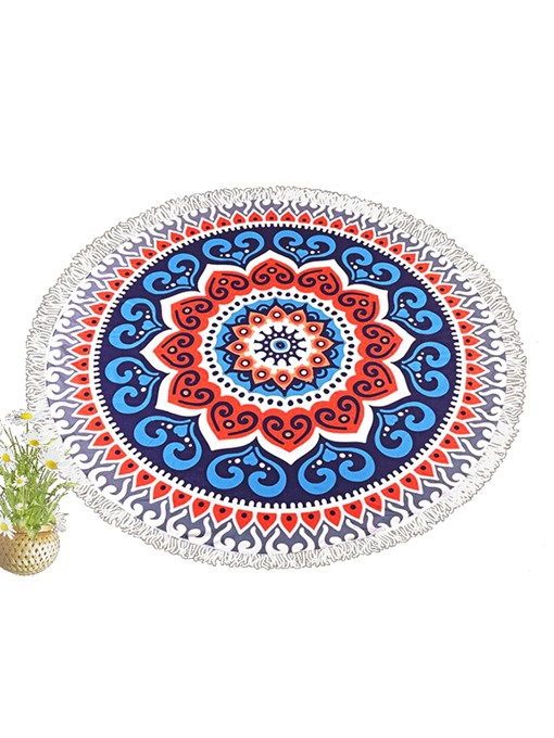Kaleidoscope Floral Print Summer Beach Blanket