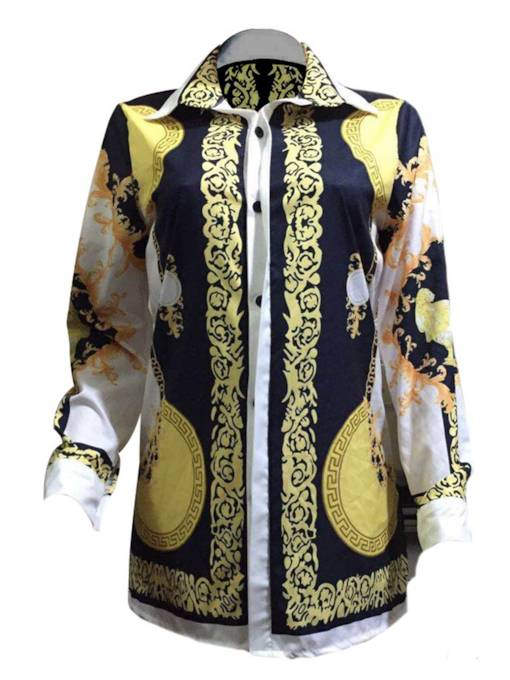 Dashiki Mid Length Women's Print Bouse