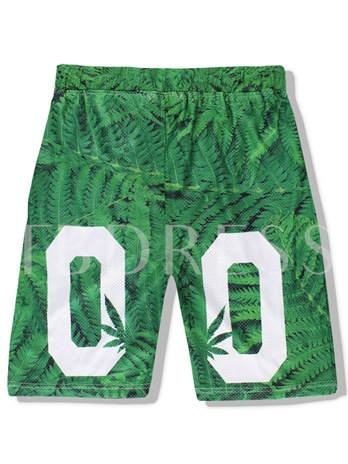 Letter Print Quick Dry Slim Men's Beach Shorts