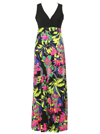 Sleeveless Pullover Printing Women's Maxi Dress