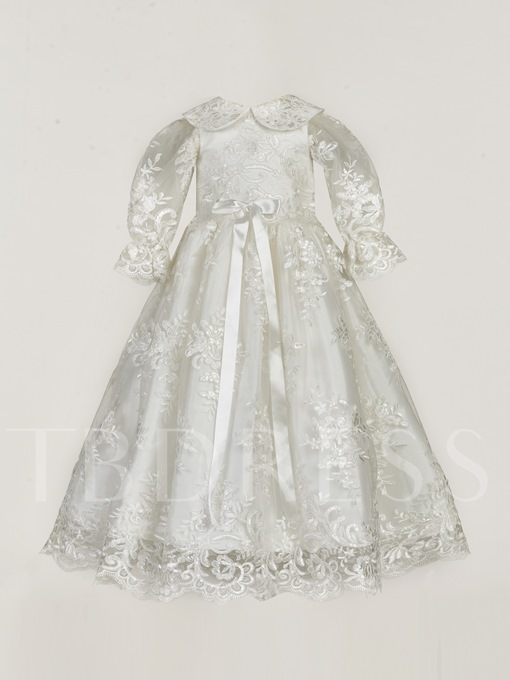 Appliques Christening Gown for Baptism Girls