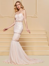 Trumpet Sweetheart Lace Beading Evening Dress