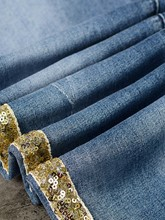 Sequin Patchwork Skinny Women's Basic Jeans