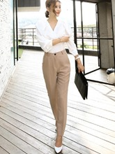 OL Style Plain Blazer Slim Fit Women's Suit
