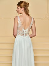 Straps Appliques Beach Wedding Dress