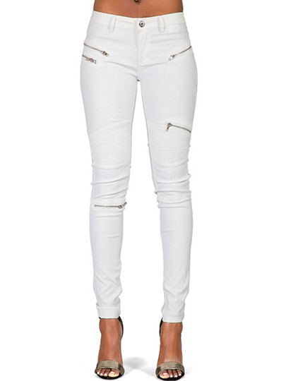 Imitate PU Denim Pants For Women Sexy Tight Stretchy Rider Leggings
