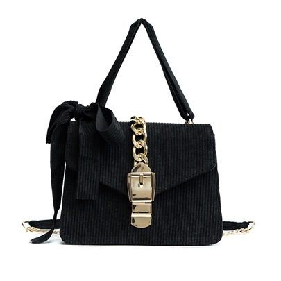 Corduroy Solid Color Women Cross Body Bag