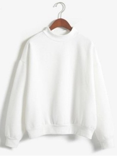 Drop Shoulder Crew-Neck Sweatshirt For Women