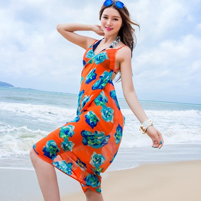 Braces Oversized Chiffon Beach Scarfs