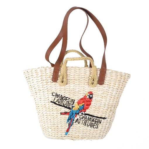 Casual Embroidery Straw Shoulder Bag