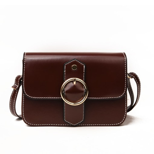 Vintage Plain PU Women Cross Body Bag